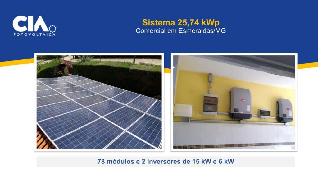 Foto da instalalção do projeto em esmeraldas mg
